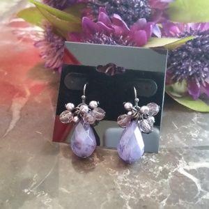 Beautiful Lavender Beaded Earrings